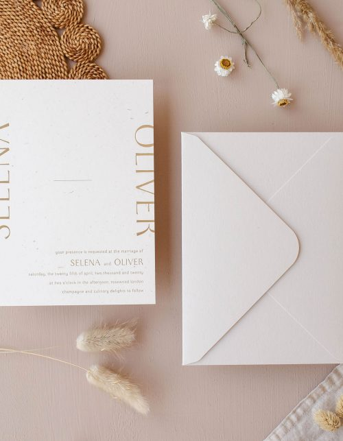 315 Press Gold Foil Invitation