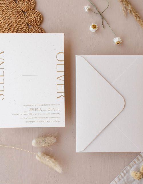 315 Press Gold Foil Invitation