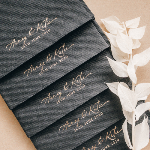 Personalised Napkins Gold