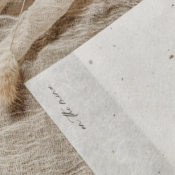 Handmade Paper Menu