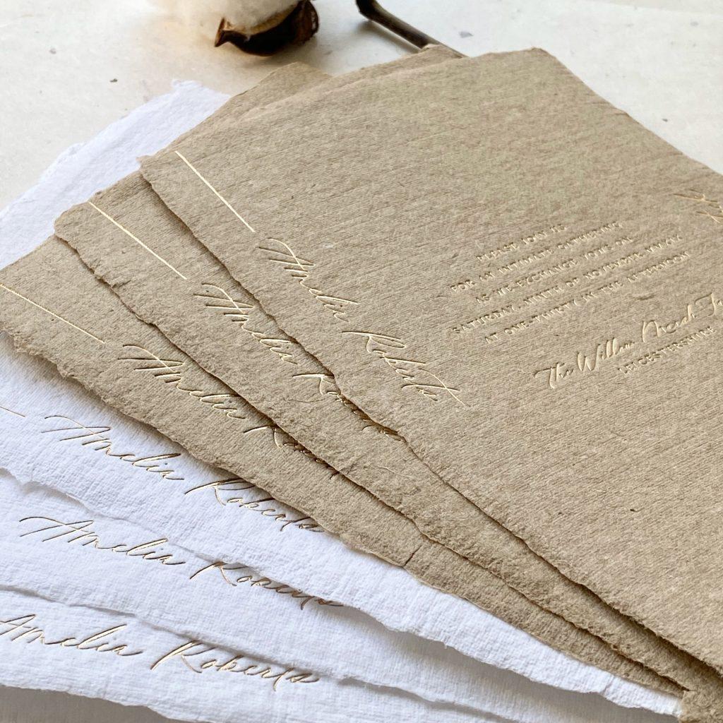 Foil Printed Invitation