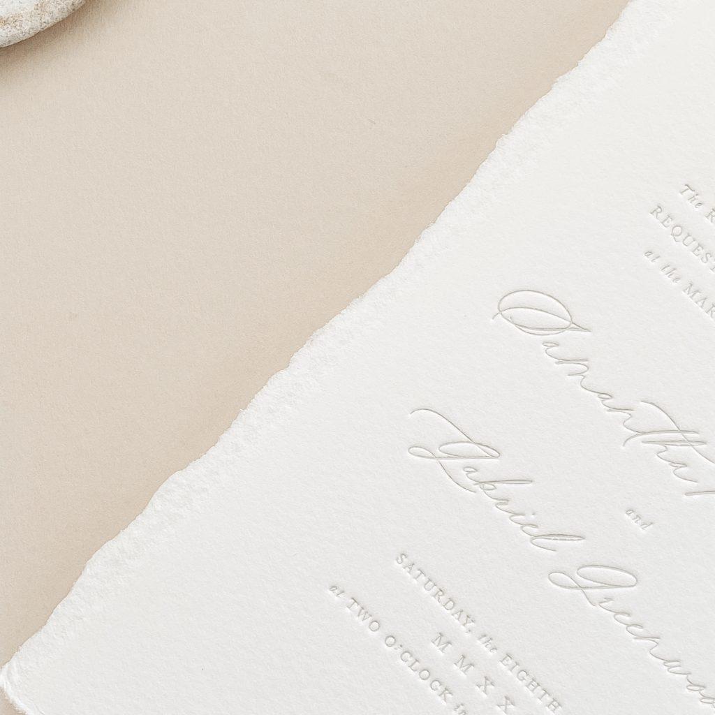 Blind Letterpress