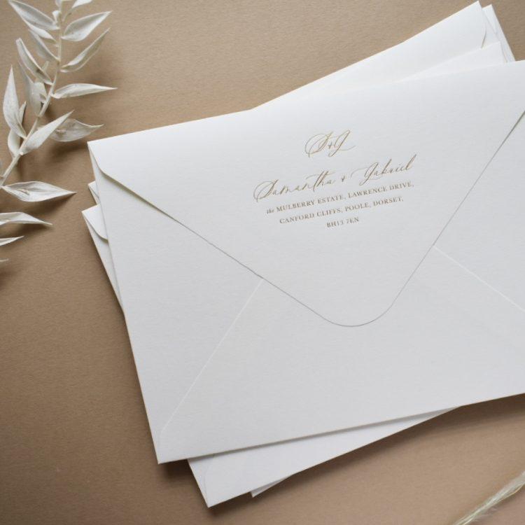 addressed envelope foil