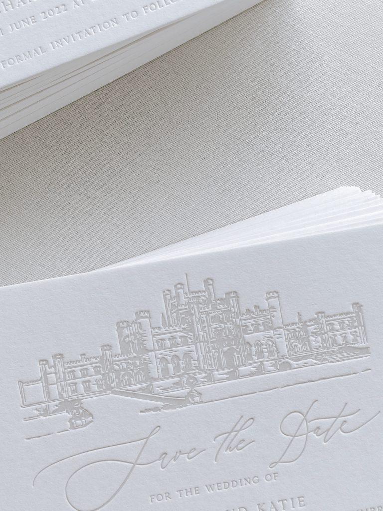 leterpress wedding invitation