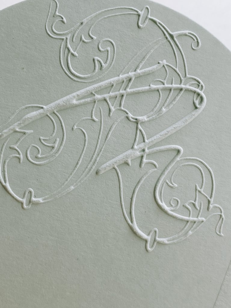 embossed wedding design
